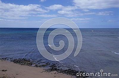 Deep blue ocean