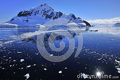 Deep blue ocean Antarctica
