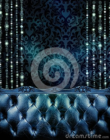Free Deep Blue Vip Section Of An Expensive Club Or Restaurant. Stock Photo - 63462000