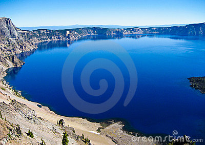 Deep blue water, Crater Lake, Oregon