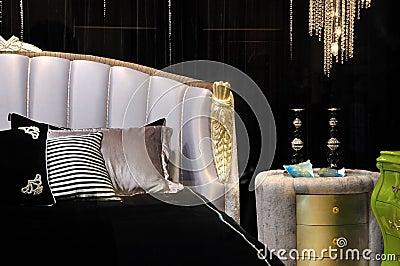 Deep color style bedroom