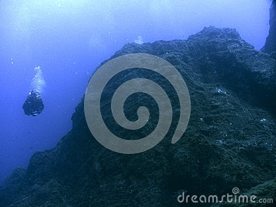 Deep Diving Stock Photo Image 58006942