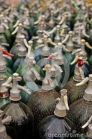 Deep of the field siphon bottles