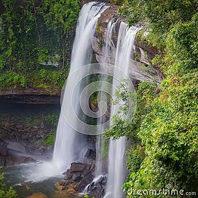 Free Deep Forest Beautiful Waterfall At Huai Luang Waterfal Stock Photo - 38587890