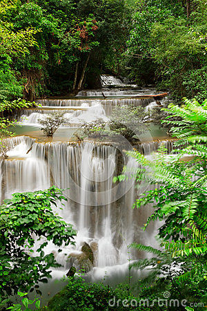 Deep Forest Waterfall, Kanjanaburi Thailand