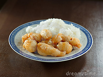 Deep fried chinese chicken with rice
