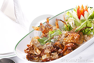 Deep fried crab