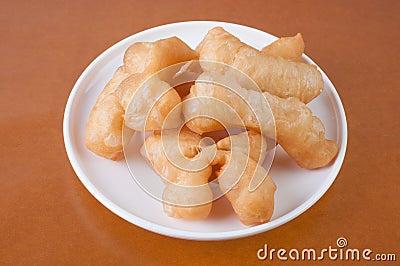 Deep fried dough on background