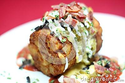 Deep fried potato concoction