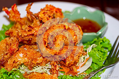 Deep fried squid rings