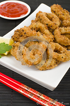 Oriental Deep Fried Squid Rings