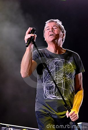 Deep Purple vocalist Ian Gillan. Editorial Photo