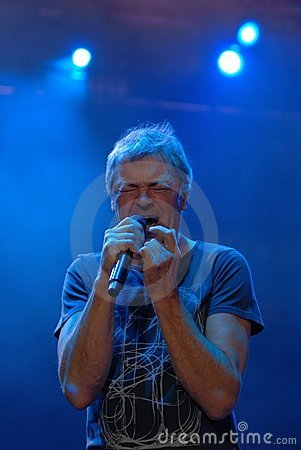 Deep Purple vocalist Ian Gillan. Editorial Photography