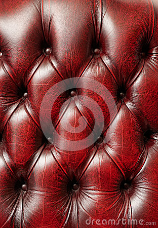 Deep red chair upholstery