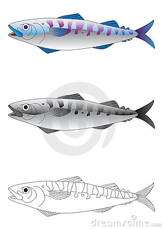 Deep sea fish vector illustration