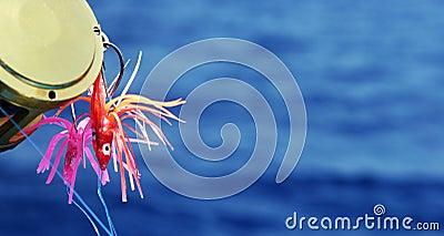 Deep sea fishing lures - copy space