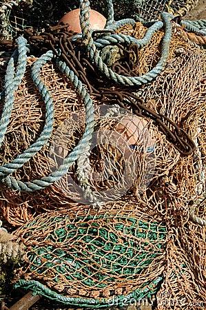 Deep sea fishing nets & buoys