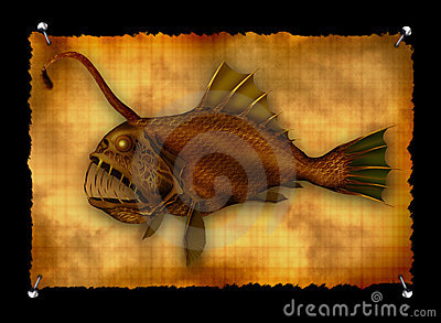 Deep-sea monster fish