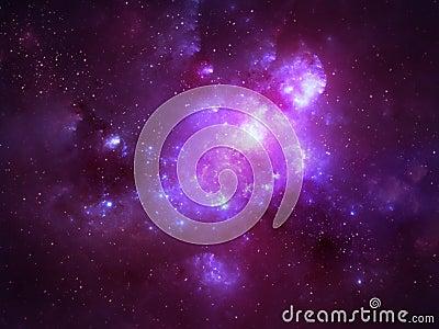 Deep space nebula