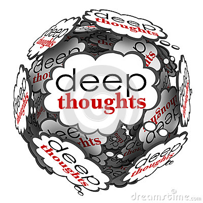 Deep Thoughts Profound Important Ideas Cloud Sphere