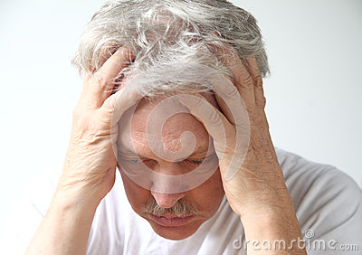 Deeply depressed older man