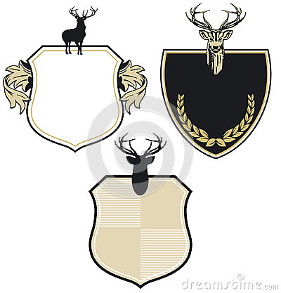 Deer coat of arms patch