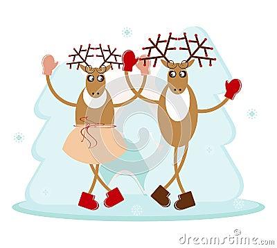 Deer in dance