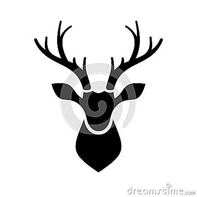 Deer Head Icon Vector Logo Stock Vector Image 43707663