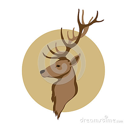 Deer head vector illustration style flat Vector Illustration