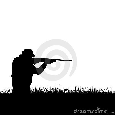 Free Deer Hunter Silhouette Royalty Free Stock Images - 7692979