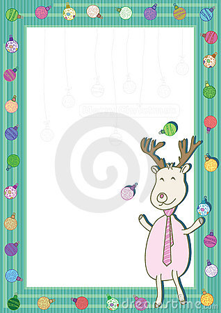 Deer Play Xmas Balls Frame_eps