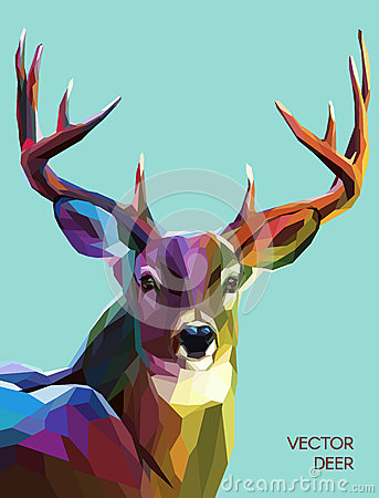 Free Deer Polygonal Illustration. Vector  Eps 10 Royalty Free Stock Photo - 55953635