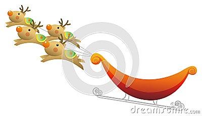 Deer pulling sled