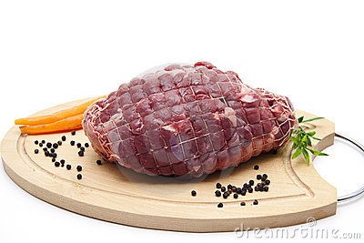 Deer roast raw