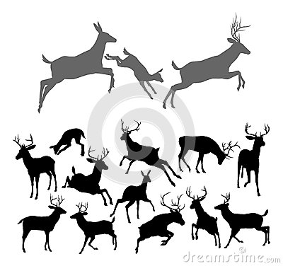 Free Deer Silhouettes Royalty Free Stock Images - 35069329