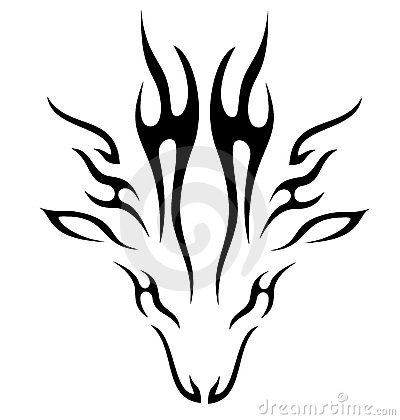DEER IN TRIBAL TATTOO Silhouette of
