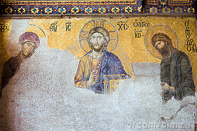 Deesis Mosaic of Jesus Christ