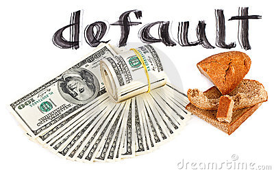 Default of USA dollar currency concept photo
