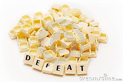 Defeat Text