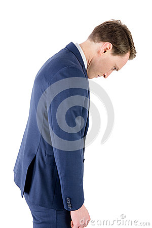 Free Defeated Businessman Looking Down Royalty Free Stock Photos - 54775618
