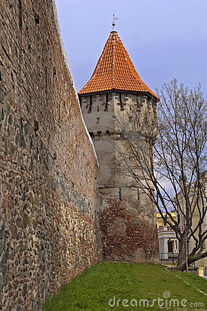 Defence wall and tower in Sibiu