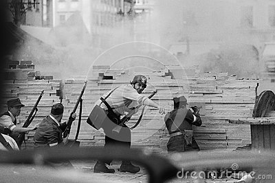Defenders of streets Editorial Stock Image