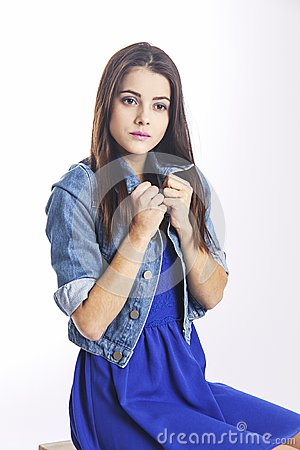 Free Defenseless And Innocent Look Of Girl Stock Photography - 51992642