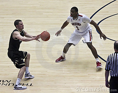 A Defensive Move by Arizona Wildcat Kevin Parrom Editorial Image