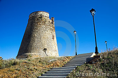 Defensive tower with stairs