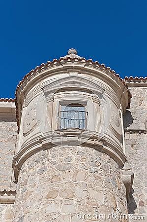 Defensive walls tower at Avila, Spain