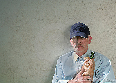 Defiant homeless man
