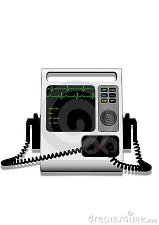 Defibrillator with Clipping Path