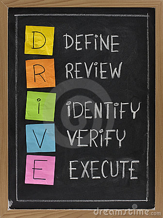 Define, Review, Identify, Verify, Execute