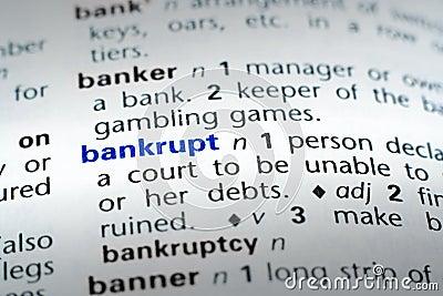 Definition of Bankrupt